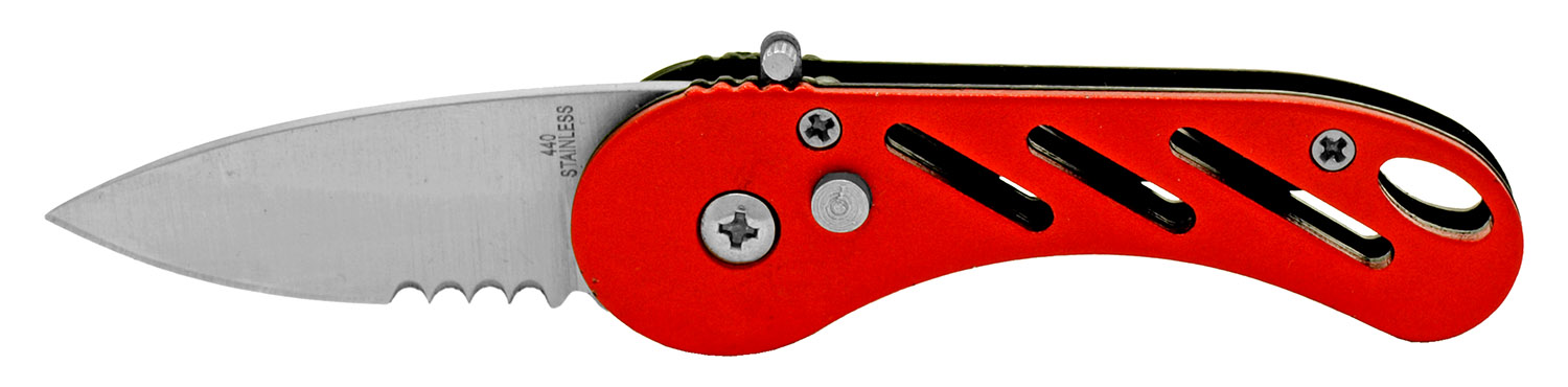 3.25 in Stainless Steel Folding Knife - Red