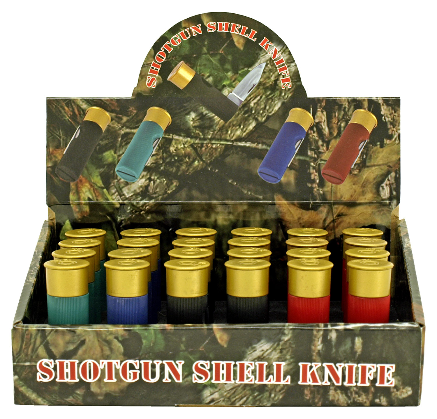 24 - pc. Shotgun Shell Folding Knife Display Set