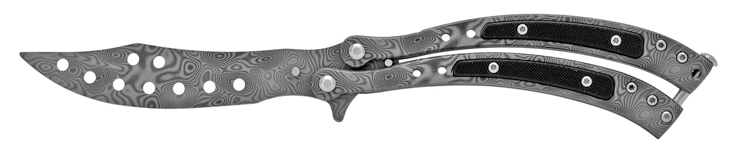 5.5 in Practice Butterfly Knife - Gun Metal