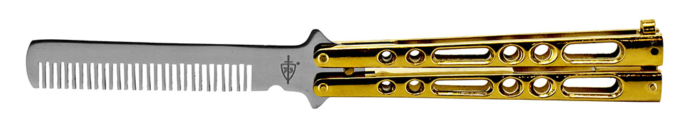Butterfly Knife Style Hair Comb - Gold