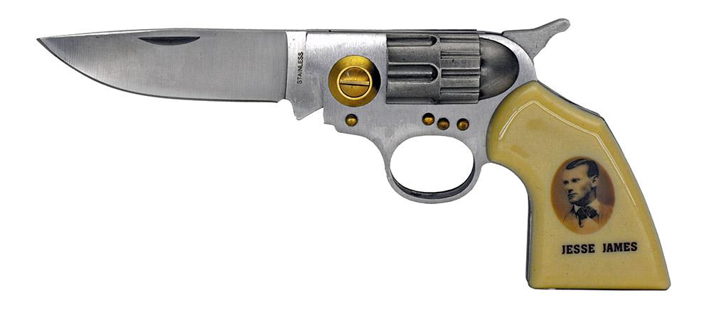 4.5 in Spring Assisted Gun Knife - Jesse James