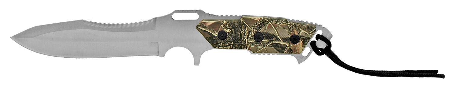 12.75 in Hunting Knife - Woodland Camo