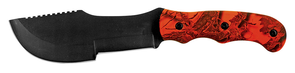 11 in Hunting Knife - Orange Camo