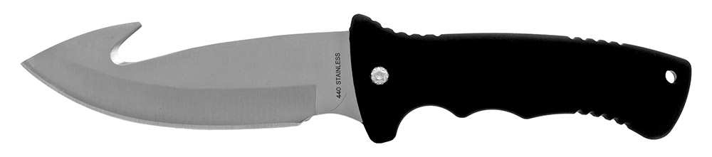 10.5 in Gut Hook Hunting Knife - Black