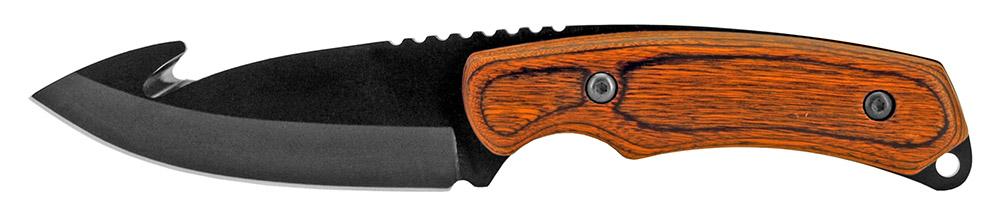 8 in Gut Hook Hunting Knife - Black