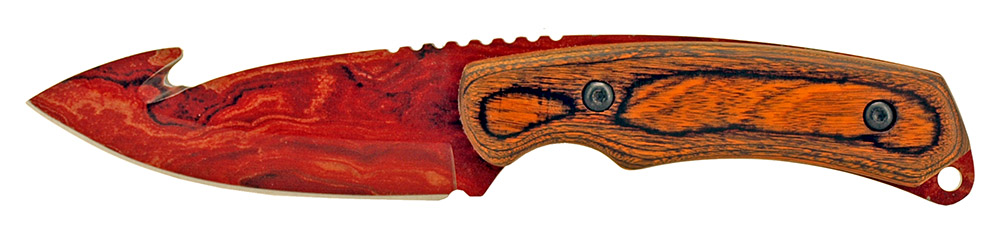 8 in Gut Hook Hunting Knife - Red