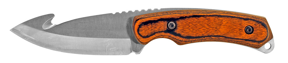 8 in Gut Hook Hunting Knife - Silver