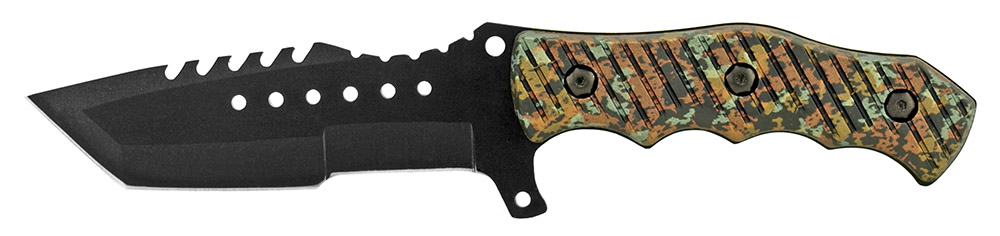 4.38 in Elite Tactical Knife - Green Digital Camo
