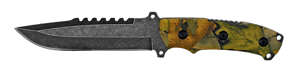 11 in Stone Wash Knife - Camo