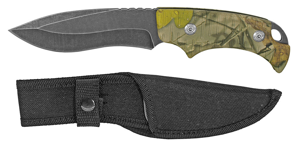 9 in Drop Point Tactical Knife - Tree Camo