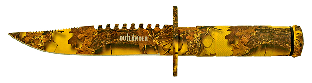 8.5 in Survival Knife - Yellow Camo