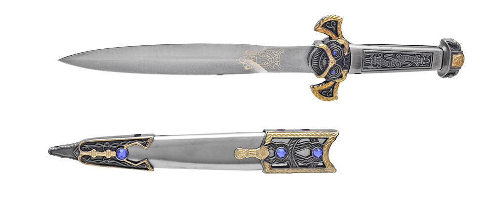 14 in Roman Dagger - Silver and Gold