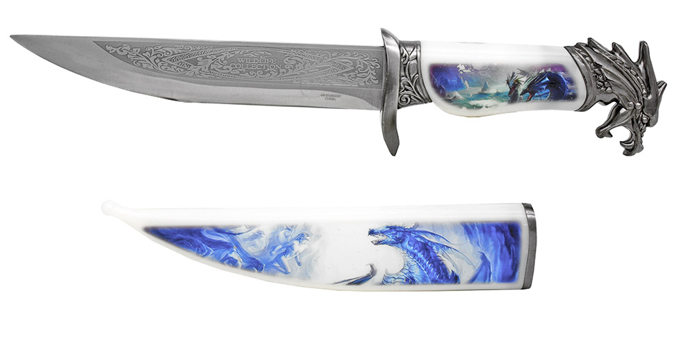13.5 in Wildlife Collection Knife - Dragon