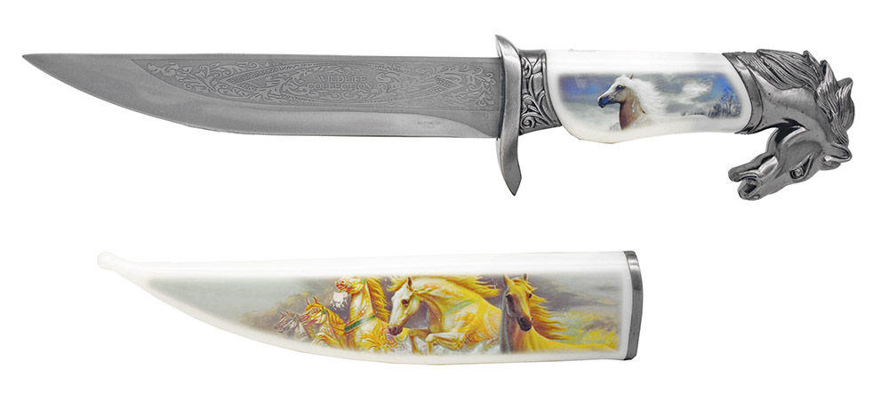13.5 in Wildlife Collection Knife - Horse