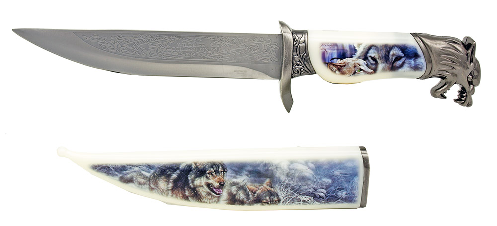 13.5 in Wildlife Collection Knife - Wolf