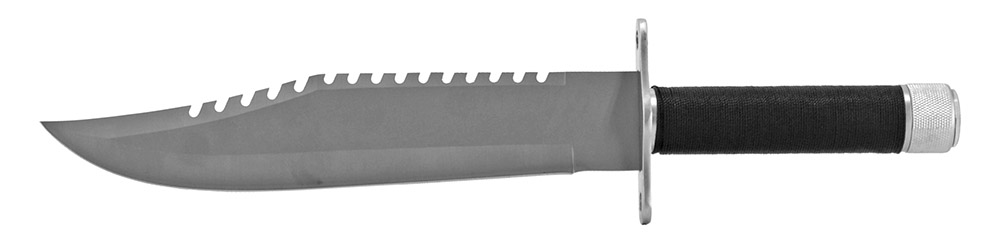 15 in Survival Knife - Silver