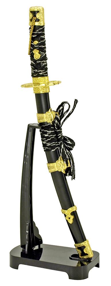 11 in Samurai Sword Letter Opener - Black