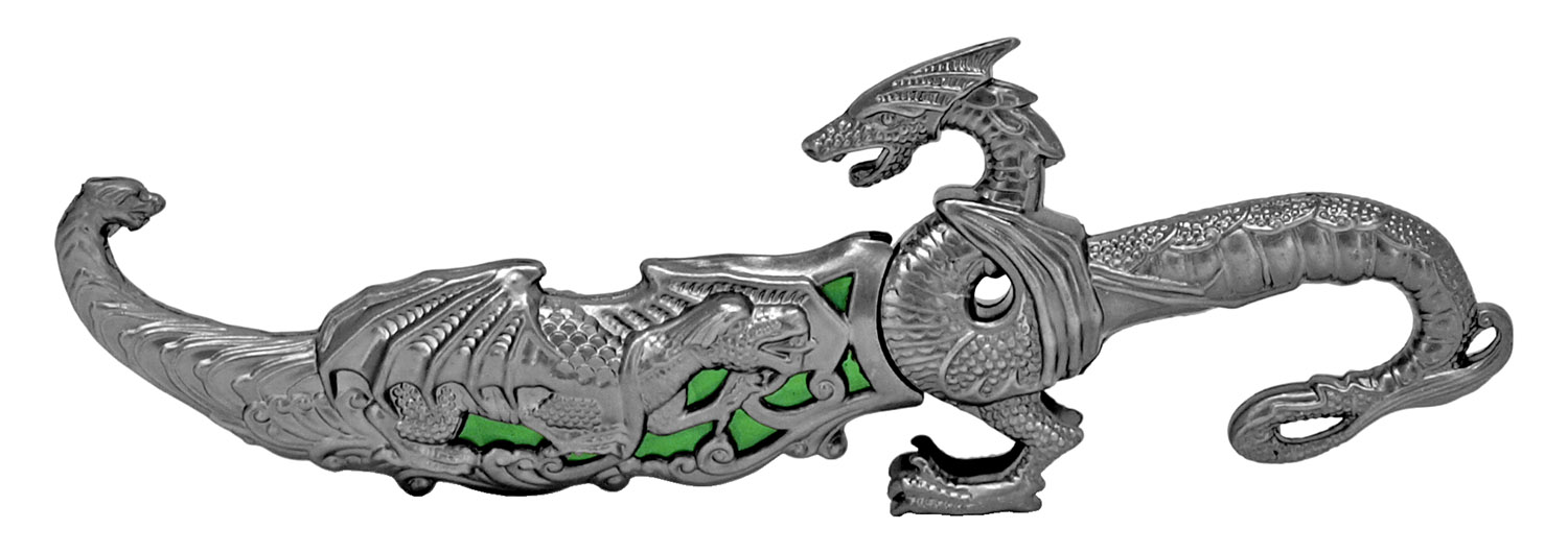 9.25 in Dragon Dagger - Green