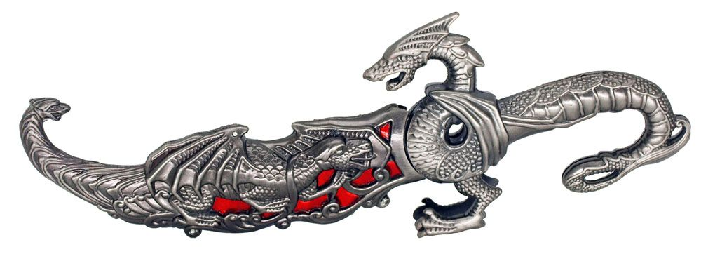 10 in Dragon Knife - Red
