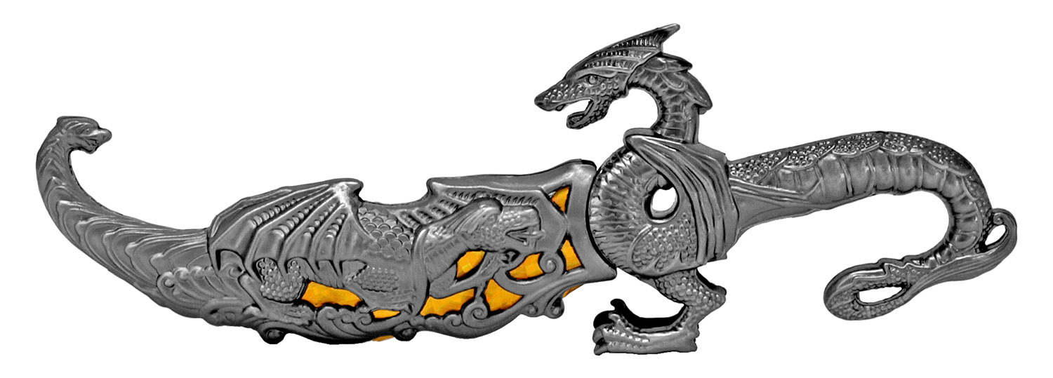 9.25 in Dragon Dagger - Yellow