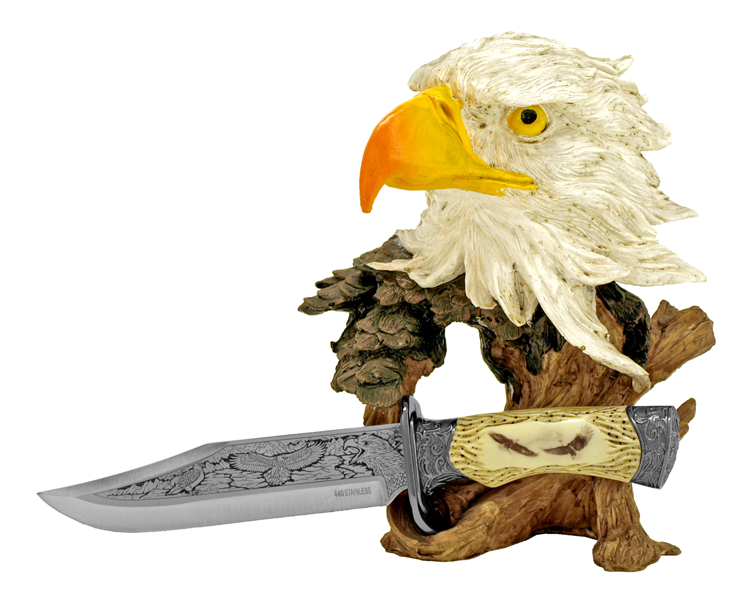 Eagle Bust with Knife Display