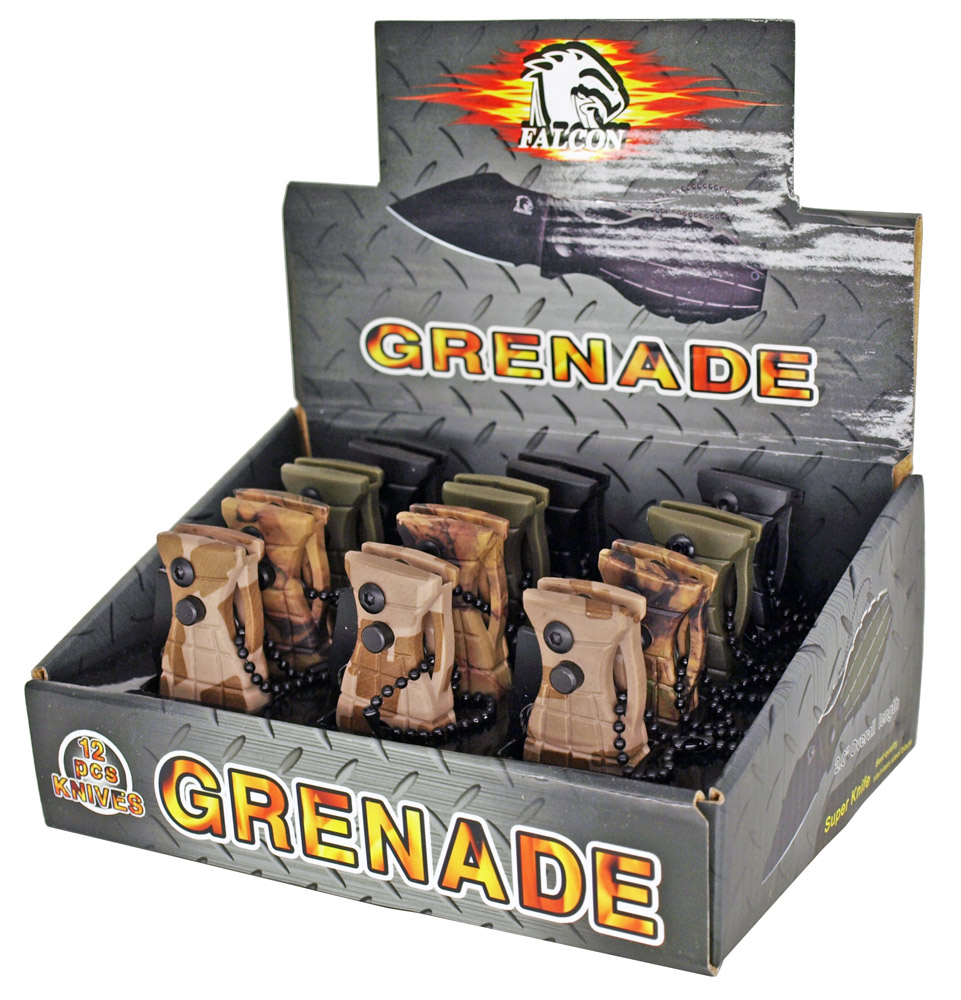 12-pc. Spring Assist Grenade Knife Set