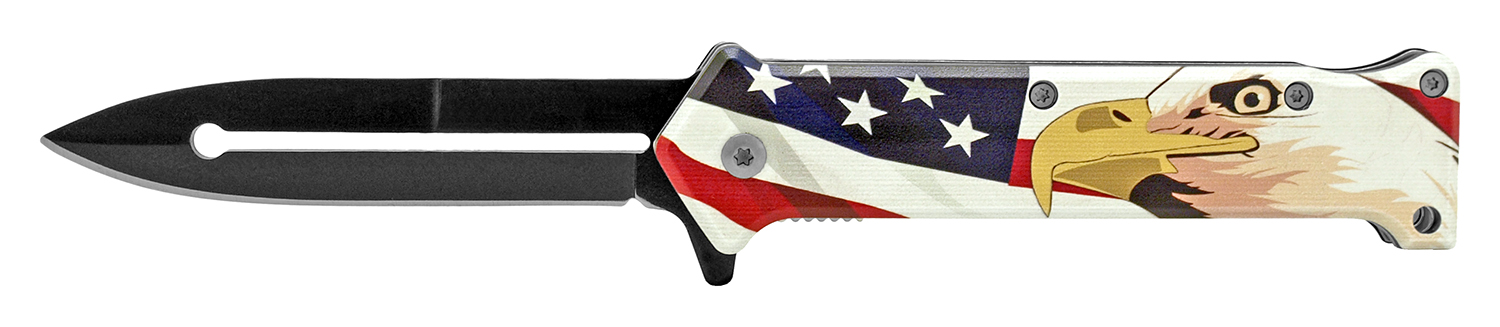 4.63 in Stiletto Folding Knife - American Eagle