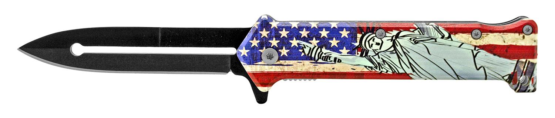 4.63 in Stiletto Folding Knife - American Liberty