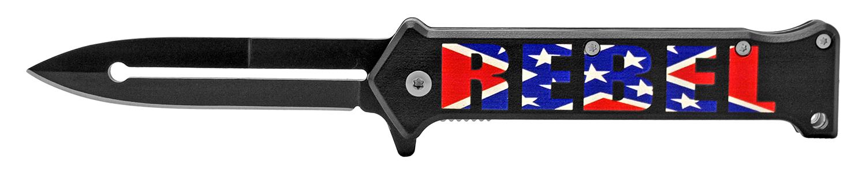 4.63 in Stiletto Folding Knife - Southern Rebel