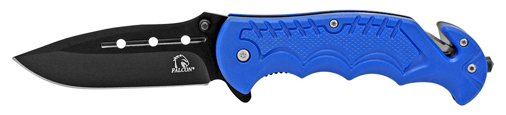 4.5 in Spring Assisted Tactical Folding Knife - Blue