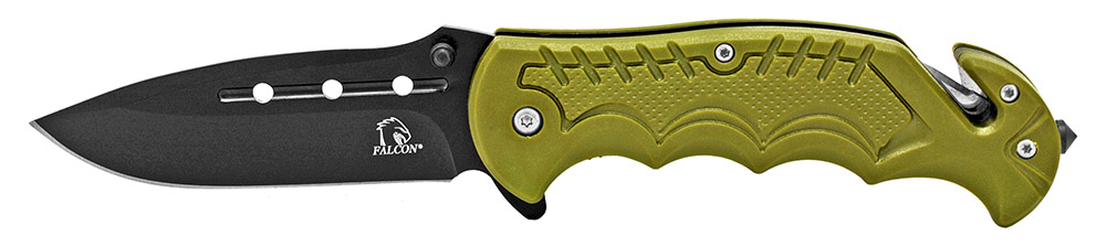 4.5 in Spring Assisted Tactical Folding Knife - Olive Green