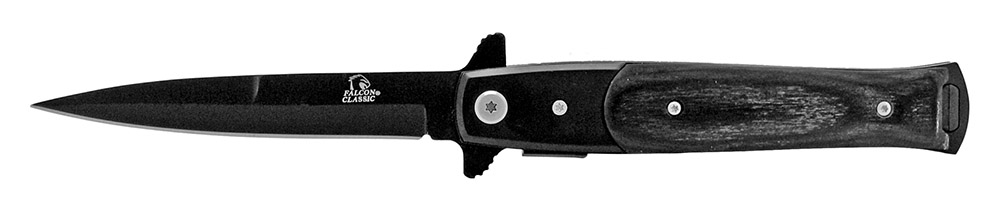 4.75 in Spring Assisted Stiletto Folding Knife - Black