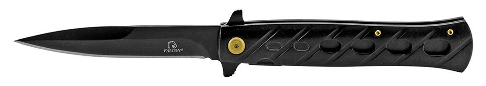 5 in Stiletto Style Folding Knife - Black