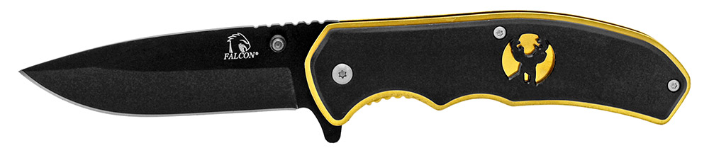4.5 in Silhouette Spring Assisted Folding Knife - Black Gold