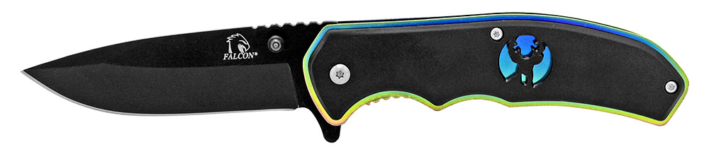 4.5 in Silhouette Spring Assisted Folding Knife - Black Titanium
