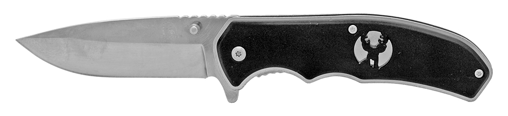 4.5 in Silhouette Spring Assisted Folding Knife - Silver