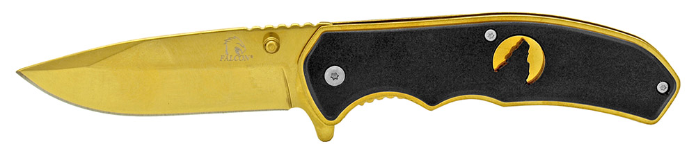 4.5 in Silhouette Spring Assisted Folding Knife - Golden Black