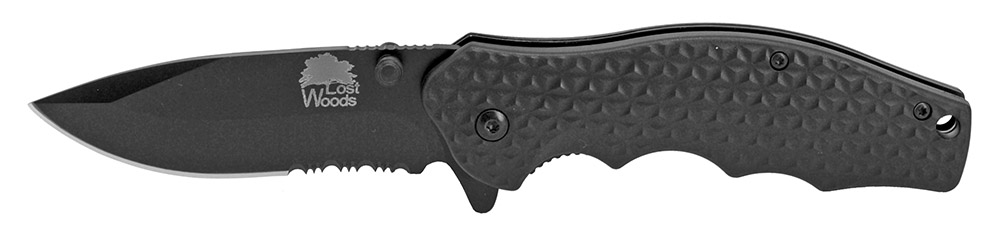 Lost Woods 4.5 in Spring Assist Folding Knife - Black