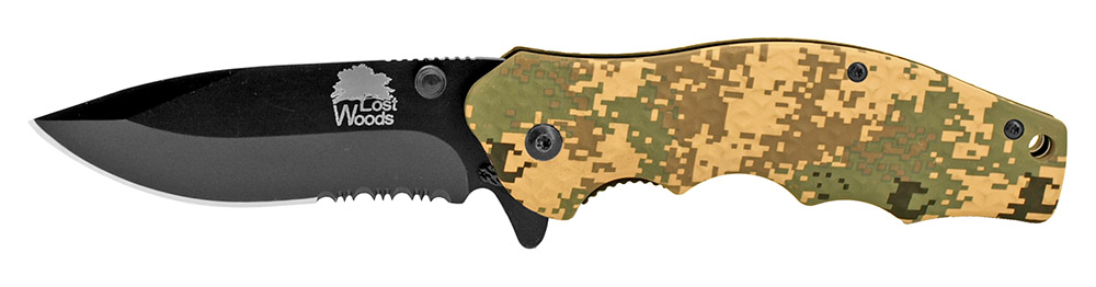 Lost Woods 4.5 in Spring Assist Folding Knife - Digital Camo