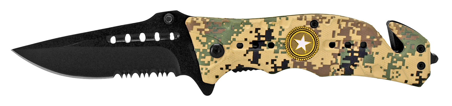 4.5 in Folding Survival Knife - Digital Camo