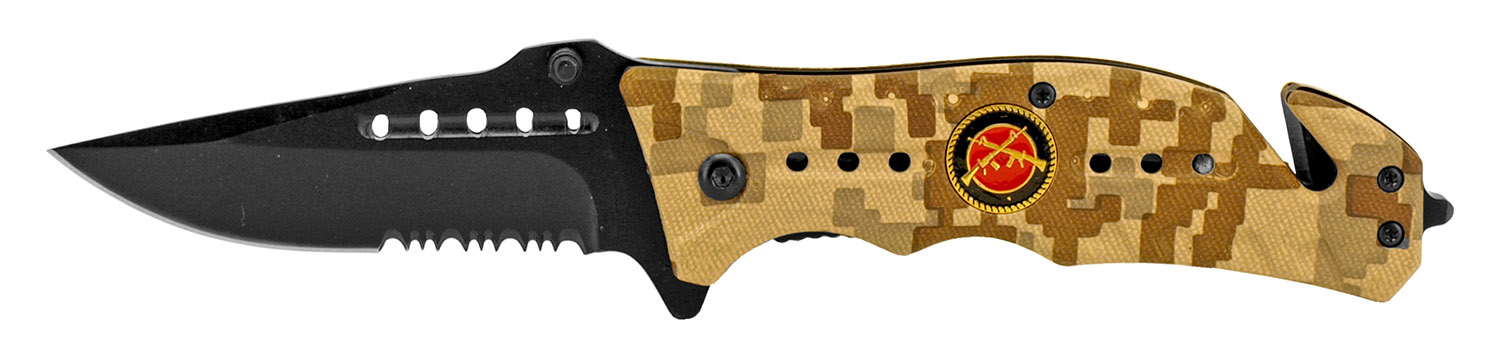 4.5 in Spring Assisted Folding Marine Knife - Desert Digital Camo