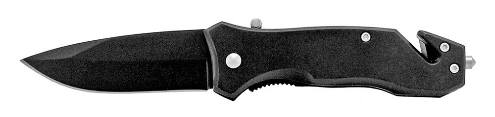 3.75 in Spring Assisted Pocket Survival Knife - Black