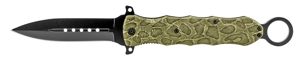 6 in Spring Assisted Folding Knife - Snake Camo