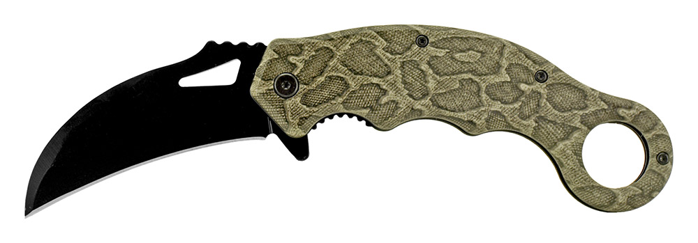 5.25 in Spring Assist Folding Knife - Camo