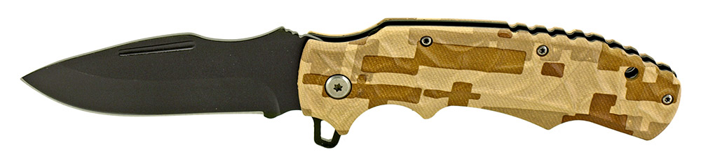 4.75 in Spring Assisted Folding Knife - Desert Digital Camo