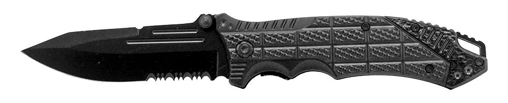 4.5 in Spring Assisted Folding Sport Knife - Black