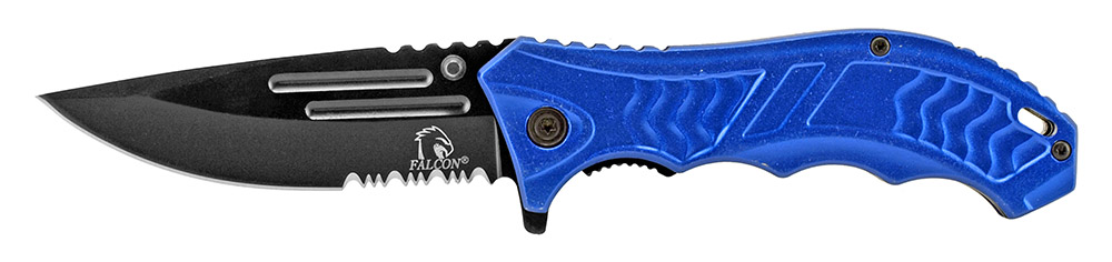 4.75 in Spring Assisted Folding Knife - Blue