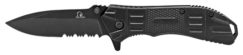 4.25 in Spring Assisted Gripper Pocket Knife - Black