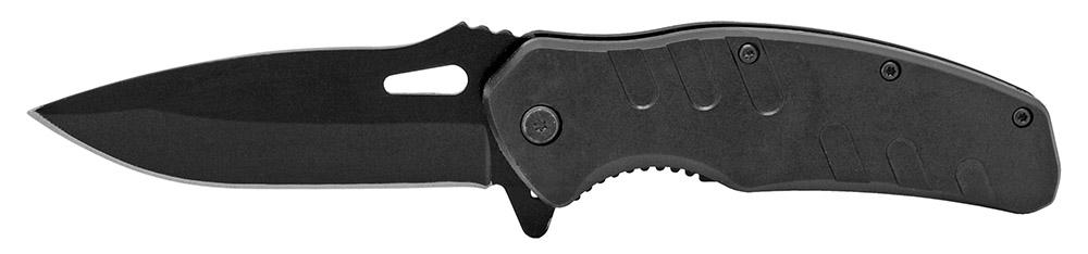 4.5 in Spring Assisted Hunter's Folding Knife - Black