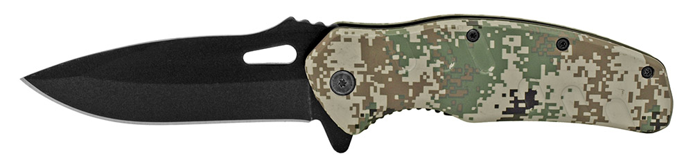 4.5 in Spring Assisted Hunter's Folding Knife - Digital Camo